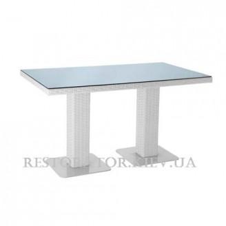 Стол плетеный из полиротанга Мартин 2 опоры 1400 HPL - Restor®