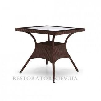 Стол плетеный из полиротанга Монтана прямоугольный 2000*1100 (бронза) - Restor®
