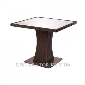 Стол плетеный из полиротанга Неаполь - М 900 HPL кант 20 мм - Restor®