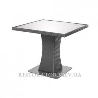 Стол плетеный из полиротанга Неаполь - М 900 HPL Венге - Restor®