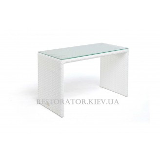 Стол плетеный из полиротанга Оригами тонированное стекло - Restor®