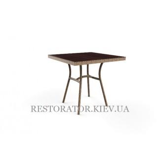 Стол плетеный из полиротанга Глэм HPL (чечевыца + птичка) - Restor®