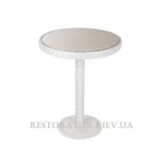 Стол плетеный из полиротанга Бейсик - М плетеная столешница - Restor®