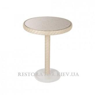 Стол плетеный из полиротанга Бейсик - М HPL - Restor®