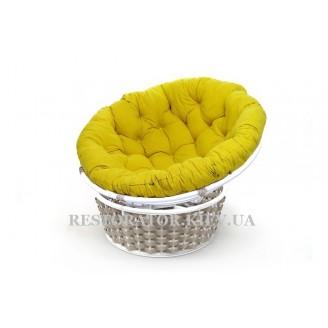 Кресло из литого алюминия и полиротанга Папасан - Restor®