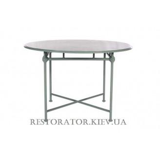 Стол литой из алюминия Монтенегро (Верона) круглый прозрачное стекло 6 мм - Restor®
