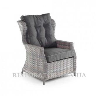 Кресло из алюминия и широкой ленты полиротанга Глория - Restor®
