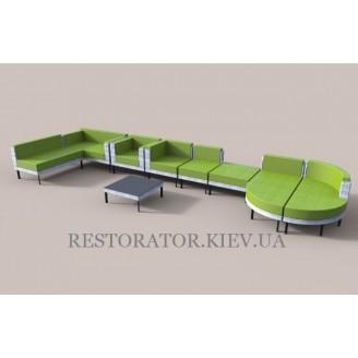 Комплект из алюминия и широкой ленты полиротанга - Restor®