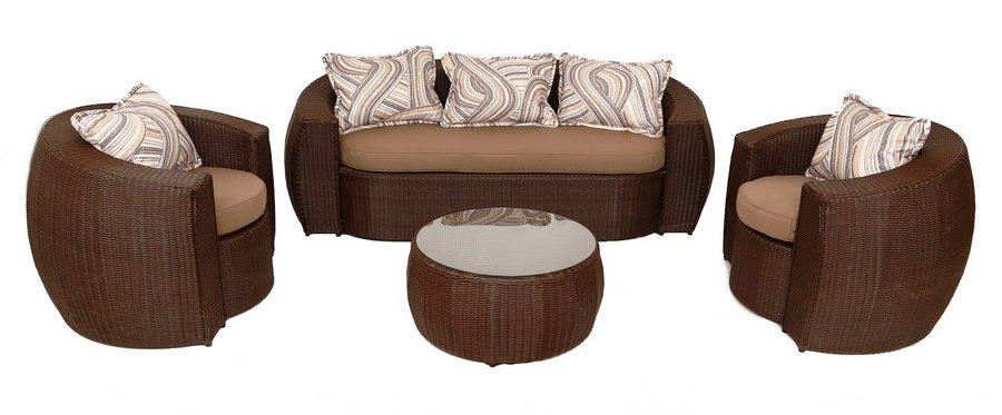Плетёная мебель из ротанга, искусственного ротанга, лозы, абаки