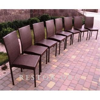Плетёный стул Klasik-1500, Техноротанг (Искусственный ротанг), Всесезонная мебель, для летней площадки, террассы....