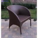 Кресло плетёное Klasik-1507 Монтана, из техноротанга (искусственный ротанг), всесезонное, для летней площадки, террассы....