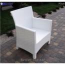 Кресло плетёное Klasik-1506, техноротанг (искусственный ротанг), всесезонное, для летней площадки, террассы....