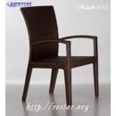 Стул плетёный Klasik-1500.1 с подлокотниками, техноротанг (искусственный ротанг), всесезонная мебель, для летней площадки, террассы....
