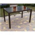 Wicker table Klasik-1532 Tehnorotang (artificial rattan), all-weather furniture