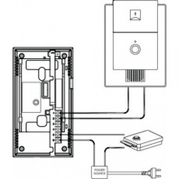 commax dp-201r подключение