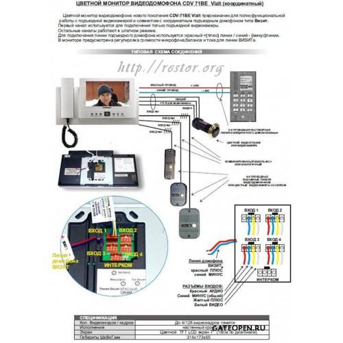 Видеодомофон CDV-71BE,